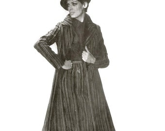 1960s Coat and Skirt Ensemble Pattern Burda Patterns 40057 S M B34 B37