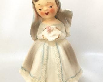 Vintage Lefton I would Like To Be bride girl figurine