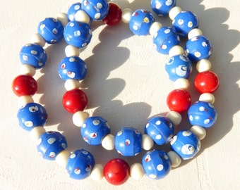 African Trade Beads Necklace, Prosser Beads, Rare beads