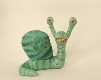Snail Turquoise Clay Sculpture