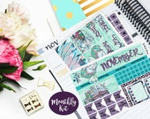 November Monthly Kit Planner Vertical Student Sticker Glossy - Stick to Your Story