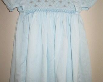 Girl's Smocked Dress - Hand-Made, Size 3