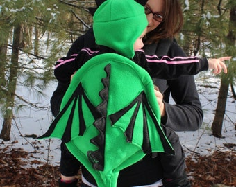 BE The Mother of Dragons.....  Baby Dragon Carrier Cover and Hat Set- Baby Carrier Accessory with Huge Pocket Storage