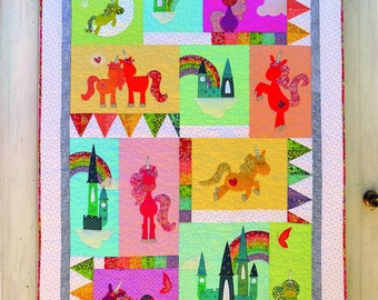 Unicornia Applique Quilt Pattern