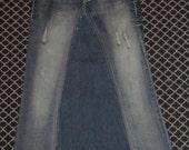 Ladies Jean Skirt -size 3/4