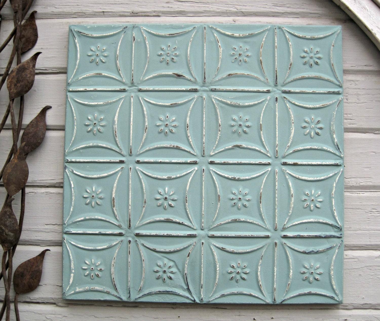 Antique Tin Ceiling Tile Magnet Board Vintage Architectural