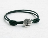 Tree leather Bracelet / Tree Bracelet / Tree of Life Bracelet (Many Colors)