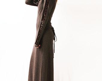 Dress / Cowl Neck dress / vintage dress/ cocktail dress/ boho dress /party dress / maxi dress