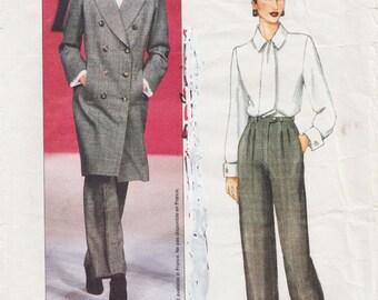 Vogue Paris Original 2477 / Designer Sewing Pattern By Yves Saint Laurent / YSL / Pants Jacket Suit Coat / Sizes 8 10 12