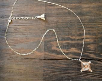 Ojo de Dios Pendant Necklace - 14k Rose Gold & Sterling Silver