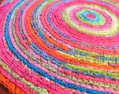 Crochet rug/rug/area rugs/round rag/handmade crochet rug/nursery rugs/rag rug/handmade crochet rug/large floor rug/ready to ship