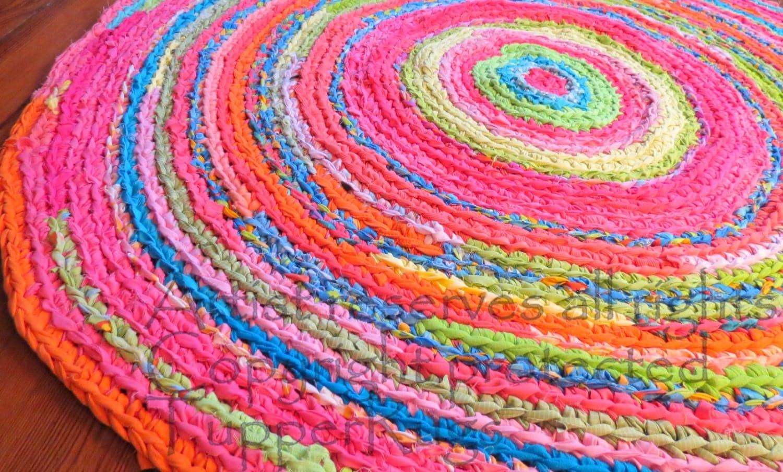Crochet Rug Rug Area Rugs Round Rag Handmade Crochet