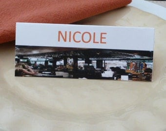 Bar Scene Place Cards/ Name Cards/ Food Tents - Set of 6- Reunion, Party Table Decor