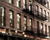Soho Building, New York City Print, Brick, Black, Architecture, New York Photography, Dolce & Gabbana Shop