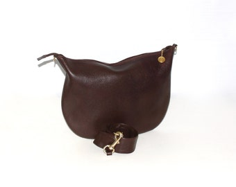Vintage GUCCI Hobo Brown Leather Large Convertible Clutch -AUTHENTIC-