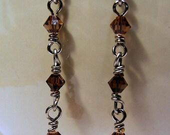 Amber Icicle Earrings