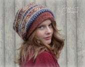 Slouchy Beanie Hat Vintage Recycled Wool Sweater Hipster Grunge Fashion