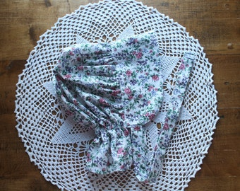 Rose Calico Pioneer Bonnet -Ready to Ship