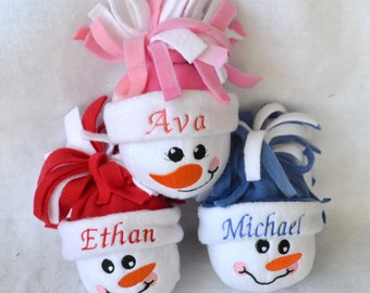 Personalized Snowman Ornaments, Snowballs, Personalized Gift, Stocking Stuffer, Hostess Gift, Teacher Gift