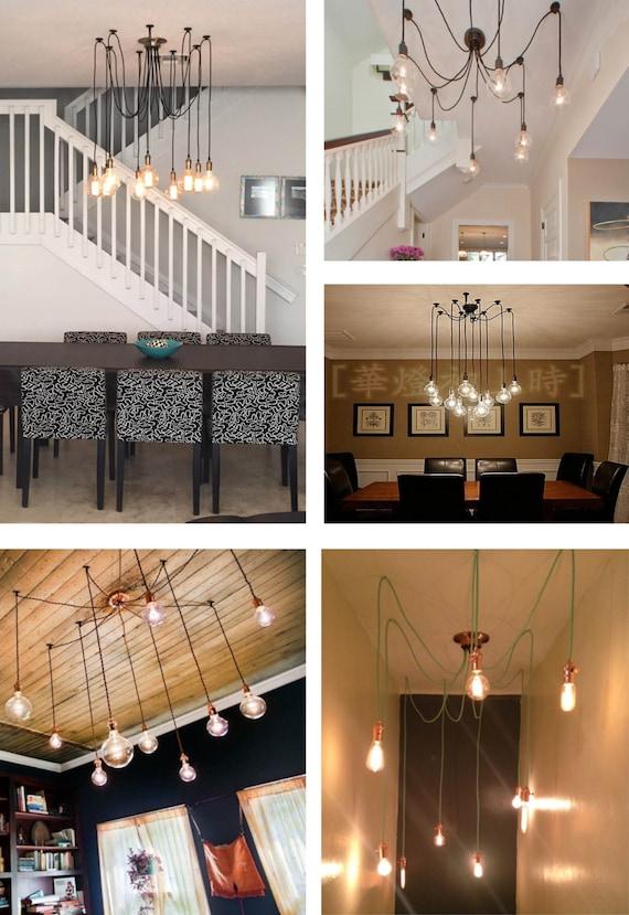9 Swag Light Multi Pendant Chandelier Modern chandelier with – Pendant Chandelier