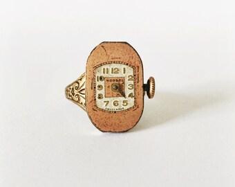Steampunk Ring, Watch Movement