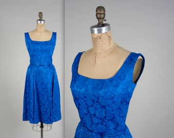 1960s royal brocade dress • vintage 60s dress • evening party dress (SH)