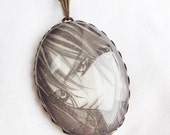 Vampire Knight - Kaname - Glass Jewelry - Handmade Recycled - Manga / Anime Pendant Necklace