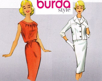 Burda Style 7254 60s MOD Dress & Jacket Pattern UNCUT FF Sizes 10 12 14 16 18 20 22 24