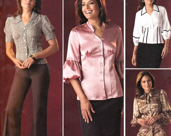 Simplicity 2732 Threads Magazine Collection Blouses Pattern Size 6 8 10 12 14 Bust 32 34 36 Inches OOP Sewing Pattern UNCUT Factory Folds