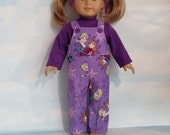 S A L E - 18 inch doll clothes - Princess Bibs and Turtleneck handmade to fit the American Girl Doll