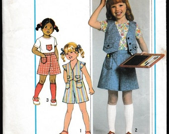 Simplicity 8042 Child's Pantsuit,Top and Vest