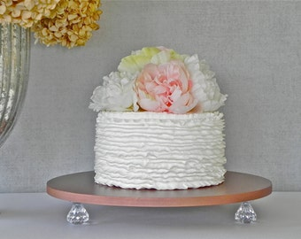 "Rose Gold Cake Stand 14"" Wedding Gold Cupcake Bling Gold Cake Topper Wedding Decor E. Isabella Designs Featured In Martha Stewart Weddings"