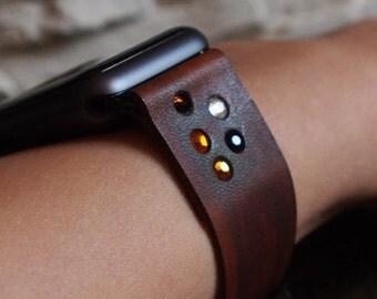 Bohemian Minimalist -  Women  Apple Watch Band Strap 38mm -  Handmade leather strap/band for Apple Watch 38mm