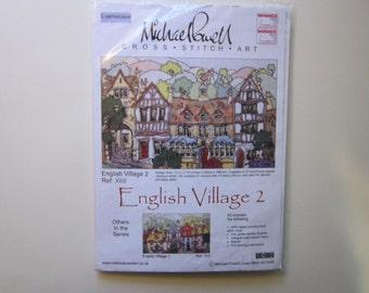 counted cross stitch kit - Michael Powell ENGLISH VILLAGE 2 - unused - circa 2008
