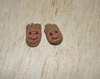 Clay Groot Earrings Guardians of the Galaxy