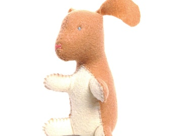 Bunny rabbit stuffed animal- Tan with cream (Ready to ship!)