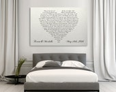 First Dance Lyrics On Canvas, Your Wedding Song On Canvas, Heart Shaped Couples Song, Anniversary Gift, Couples Gift,