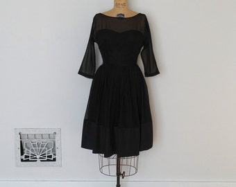 Vintage 50s Dress - 1950s Party Dress - The Nicole