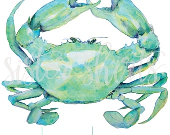 Watercolor Crab Personalized Children's Tee