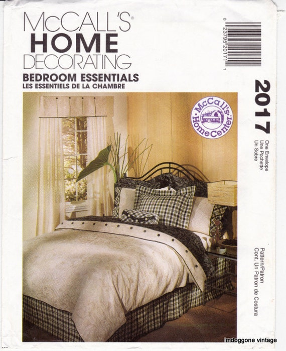 Mccall 39 s 2017 bedroom essentials sewing pattern for Bedroom necessities