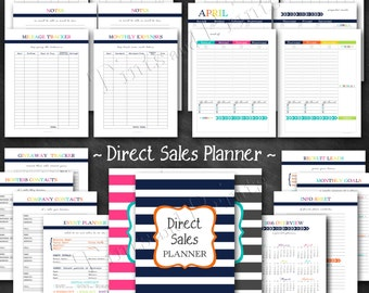"Direct Sales Planner Printable PDF - 8.5"" x 11"" A4 Letter Size - instant download"