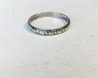 Antique Silver Band Ring c.1920s