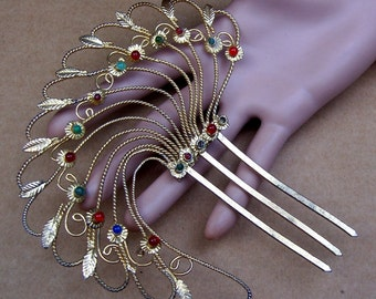 IndonesianABM  Vintage hair pin Indonesian decorative hair comb hair pick hair accessory hair jewelry tribal fusion belly dance (ABM)