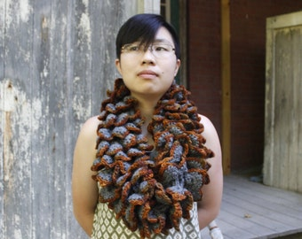 Rusted Iron Dragon Scale Cowl - Large