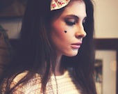 Floral Printed Hair Bow, Pretty Folklore Hair Accessory - Small - In 2 Colours