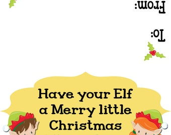 Have your elf a merry little Christmas treat topper