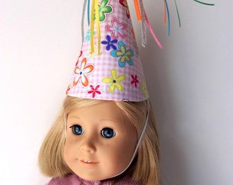 """Play Doll Birthday Hat-18"""" Doll Party Hat"""