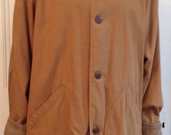 J Crew Barn Jacket Mens Size M Medium Tall Vintage Coat Cotton MT **ON SALE
