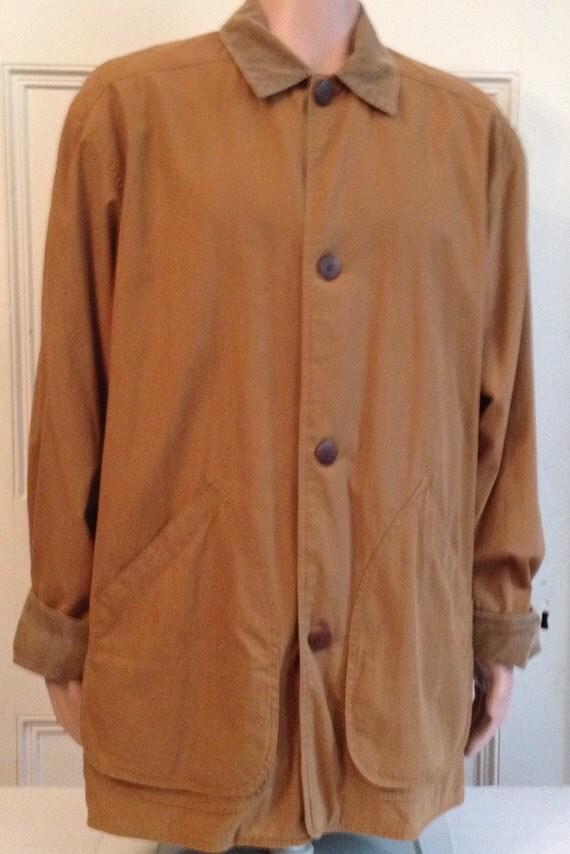 J Crew Barn Jacket Mens Size M Medium Tall Vintage Coat Cotton