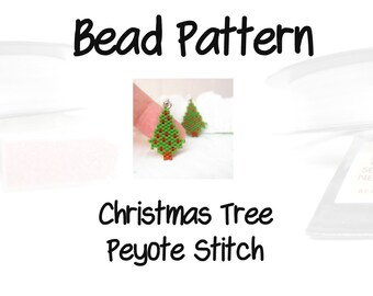 Peyote / Brick Stitch Christmas Tree Bead Weaving Patterns | DIGITAL DOWNLOAD
